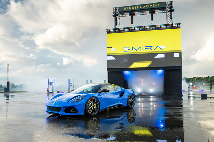 LOTUS EMIRA: ALL-NEW SPORTS CAR 'UNBOXED' IN LIVE WORLD PREMIERE FROM RE-BORN HETHEL HQ